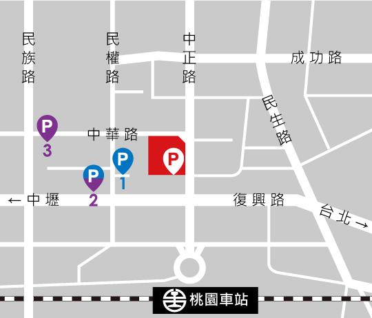 統領廣場特約停車場位置圖